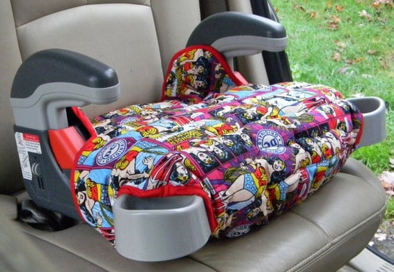 Booster Seat Cover Car Accessory In Wonder Woman By Berniea64