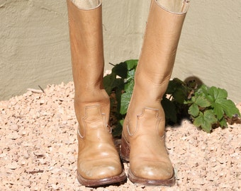 Campus Boots Ladies Size 7 B Tan Leather