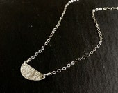 Half Moon Sterling Silver Necklace
