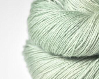 Ghost of a leaf OOAK  - BFL Sock Yarn Superwash