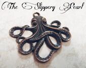 Octopus Pendant Copper Octopus Charm Kraken Charm Kraken Pendant Steampunk Octopus Large Octopus Pendant Focal Pendant Steampunk Kraken