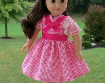 "SALE! 1950's Valentine Dress and Bolero /  Doll Clothes for Maryellen, Melody or other 18"" American Girl® Dolls"