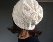 Pure silk extra soft and warm beanie hat,crocheted ribbed, Handmade silk hat. Crocheted beanie, handmade in scotland.