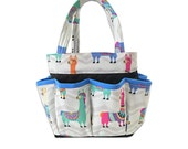 Llama Bingo Bag // Craft Organizer // Makeup Organizer // Caddy // Teacher Tote // Nurse Tote