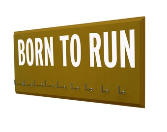 Running medals holder: Born to run, medal hanger, medal display rack, Gifts for runners, running gifts
