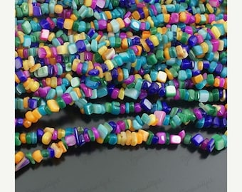 50% OFF Moving Sale - 30g Shell Gravel Mixed Color Beads Z-152