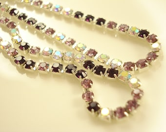 3 meter Mixed Colour Rhinestone Chain SS6(2mm) RS-105