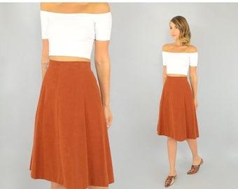 WINTER SALE 70's Sienna Velveteen Skirt