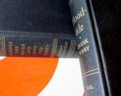 Black Books, Wedding Table Decor, Black Book Stack, Hemingway Book, Frank Yerby Book, Wedding Trend, Vintage Black Books, Photo Prop, Black