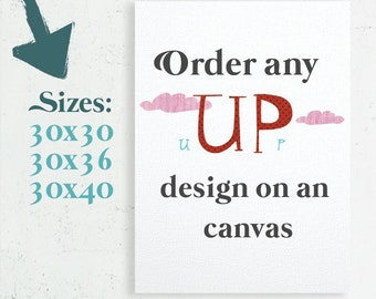 Canvas Art, Home Decor, Nursery Canvas, Bedroom Decor, Canvas gift, Gallery Wrap Canvas, 30x30 canvas, 30x36 canvas, 30x40 canvas