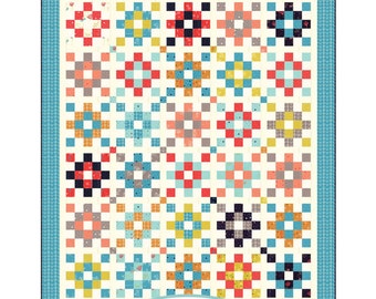Beachcomber Quilt Pattern by A Quilting Life #139  Jelly Roll friendly pattern.