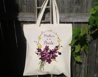 Mother of the Bride, Mother of the Groom Tote Bag, Gift Bag, Personalize for free