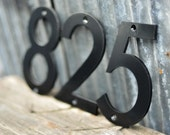 Black Powder Coated Aluminum Numbers with matching screws
