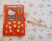 Hello Kitty Telephone Note Book and Pencil.1976
