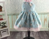 Blythe Regal Dress - Blue and Pink
