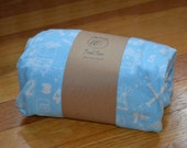 Flannel Fitted Crib Sheet - 'Ahoy' in Baby Blue - SALE