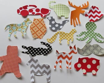 40 Assorted Gender Neutral Iron On Appliques Baby Shower Activity