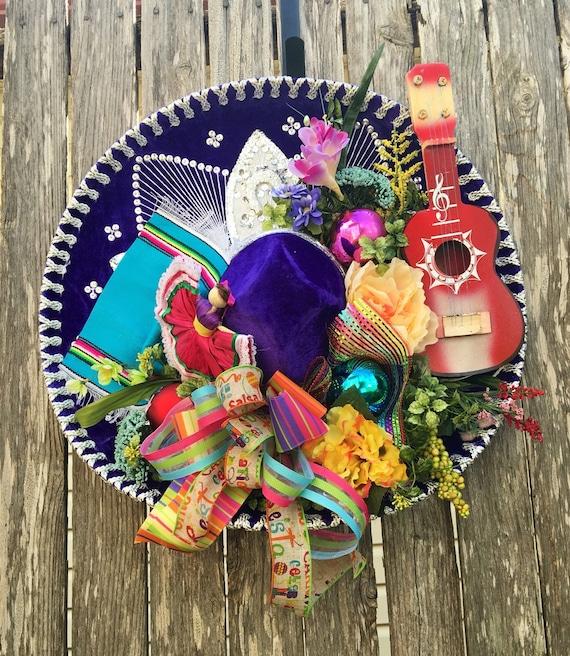 Fiesta Sombrero Wreath Fiesta Wreath Cinco De Mayo Wreath