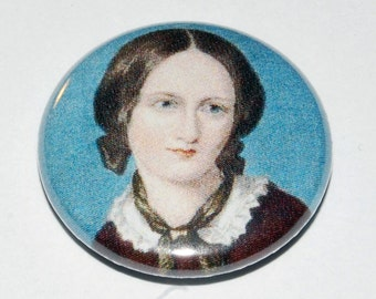Charlotte Bronte Portrait Button Badge 25mm / 1 inch Jane Eyre