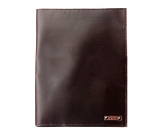 Classic Padfolio in Chocolate Brown Latigo Leather Made in the U.S.A. - LG-CL-PDFL