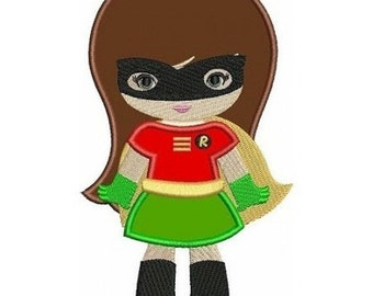 Super Hero Girl Robin with Free Personalization