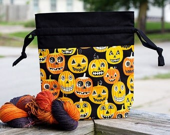 "New!  ""The Great Pumpkin"" Drawstring Project Bag"