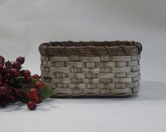 Napkin Basket-Fruit Basket-Bread Basket-Handwoven Basket-Square Basket-Rustic-Primitive