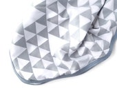 Newborn Swaddle - Grey Geo