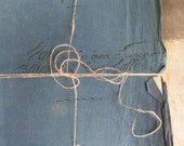 Antique French documents Ink writting Embossed stamps from the 1850s - Batch of 7 documents 18 pages