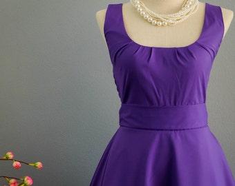 SALE Purple  dress purple party dress purple prom dress purple bridesmaid dresses green vintage dress style purple sundress day dress
