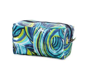 oh swell blue monogrammed cosmetic bag