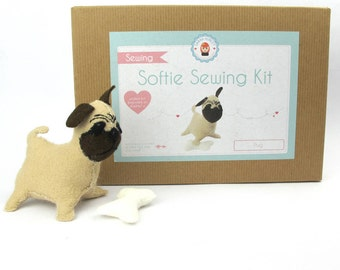 Make Your Own Softie Pug Sewing Kit