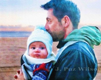 Custom Portrait, Watercolor style, Digital Painting, Painting from Photo, Family Portrait, Childrens Portrait,