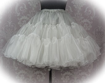 Petticoat, super puffy A-line shape made in twinkling organza in your colour choice perfect for vintage 1950s dresses and lolita fashion