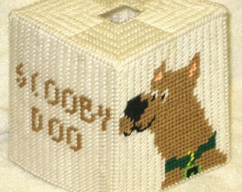 Scooby Doo Tissue Box Cover Plastic canvas Pattern