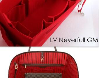 Extra large Bag organizer - Purse organizer insert in Red fabric