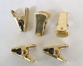 NEW - 6 (3 pairs) Gold Plated Sweater Clips - Guards