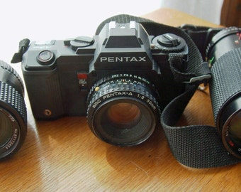 Pentax A3 35mm SLR Camera with 3 lenses