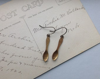 Spoon Earrings Vintage Dangle chek jewelry baker jewelry