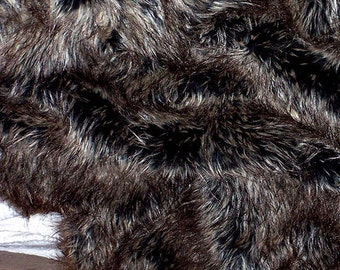 Beautiful Grizzley Bear Faux Fur - New Designer Collection