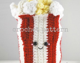 CROCHET PATTERN -Amigurumi Bag of Popcorn!