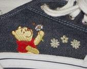 Sneakers, Winnie the Pooh, Tennis Shoes, Denim, Shoes, Women Size 8, Vintage, Disney