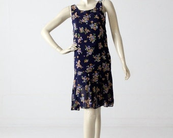 SALE 1960s drop waist dress from Bullock's Wilshire, vintage floral dress