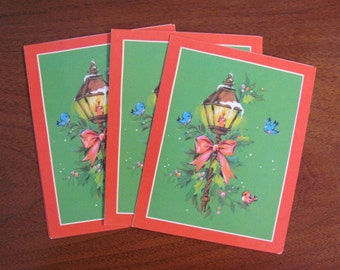 Vintage 70's Carlton Cards Limited Christmas Cards - set of 4 unused - Christmas Cards - Holidays - Crafts - Scrapbooking