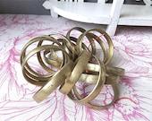 Medium Size, Vintage set of 19 Massive Bronze Copper Alloy  Curtains Rings