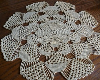 Yellow 3-D doily