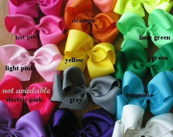 15 Extra Large Grosgrain  Boutique Bows  - You pick the colors Great for Back to School