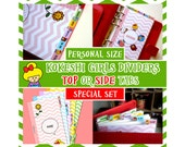 SIZE: PERSONAL (Top or Side Tabs/Special Set)  5 Personalised Dividers with 1 Registration Number Cover