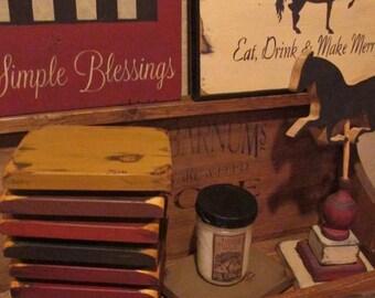 Primitive Mini Table Riser Candle board SALE 10 dollars