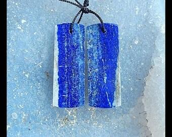 SALE,Lapis Lazuli Gemstone Earring,33x12x4mm,9.1g